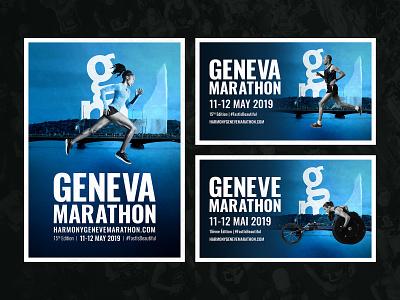 Geneva Marathon 2019 Visuals geneva marathon running poster visual sport composite retouch graphic  design