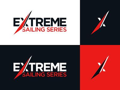 Extreme Sailing Logo gotham graphic  design sport sailing branding logo design logo