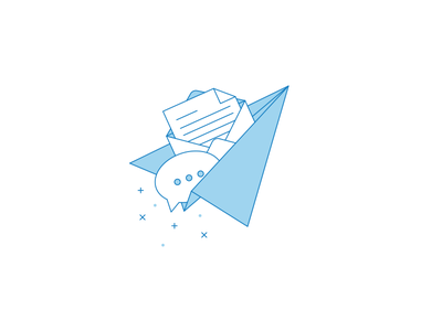 Send Us Your Feedback newsletter magic airplane envelope communication dialogue e-mail feedback