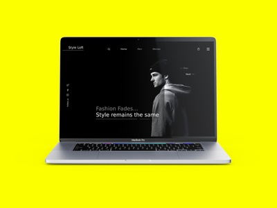 Style Loft - Landing Page Ui branding fashion ui design design landing page
