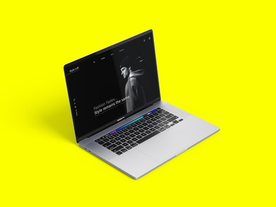 Fashion Store Landing Page UI webui minimal fashion branding ui