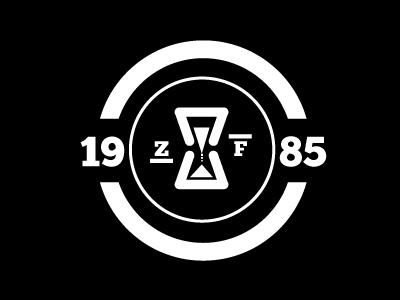 Zero Future logo black  white