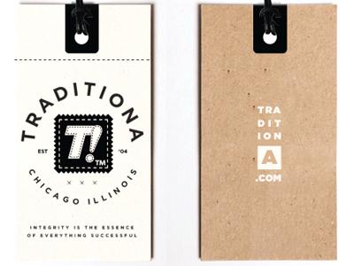 Tradhang hang tag tag clothing branding