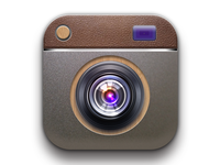 DribbbleToday's last super realistic camera app icon