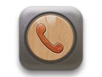 A realistic style dialing app icon