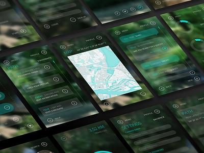 """Questure """"App Screens"""" app design ux ui adventure quest spots city nature questure web app app"""