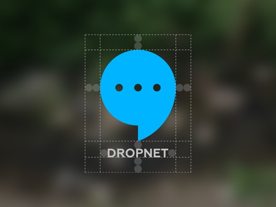 "Dropnet ""Logo"" branding messages safe area spacing construction dropnet icon logo app"