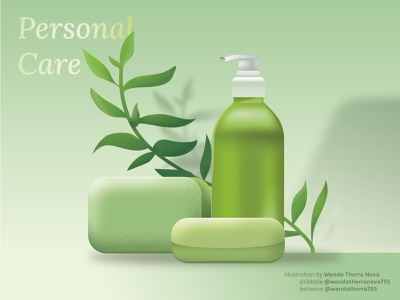 PERSONAL CARE  🍃 Vector Illustration 🍃 digital illustration skincare branding skincare art creative vector ui design graphicdesign illustrator illustration