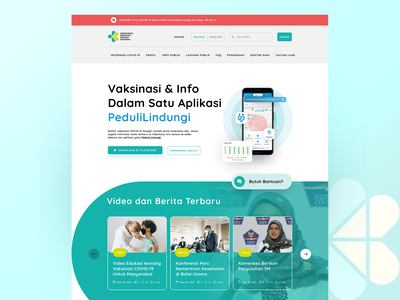 ✅ KEMKES [Indonesia Ministry of Health] - Landingpage ✅ design modern web design figmadesign ui ux figma government health business landing page website design website concept branding ux ui graphicdesign creative