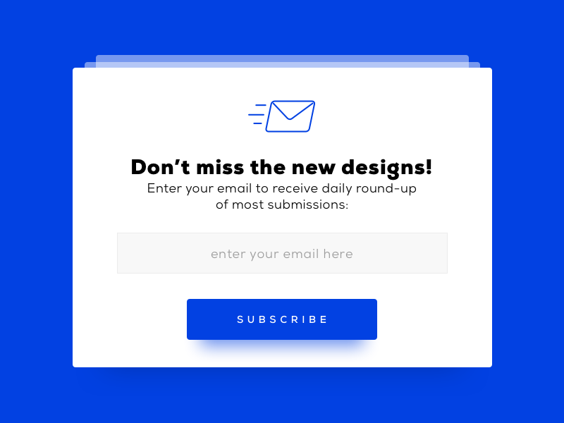 Subscribe - Daily UI #026  newsletter email field minimal design ui daily subscribe