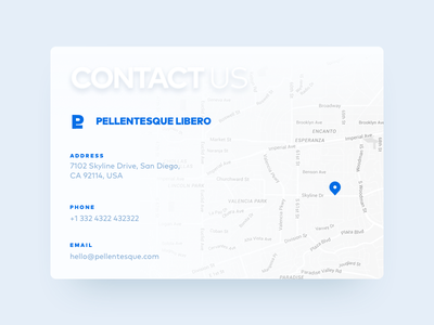 Contact Us - Daily UI #028  blue us company address phone contactus email map contact