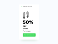 Redeem Coupon - Daily UI #061