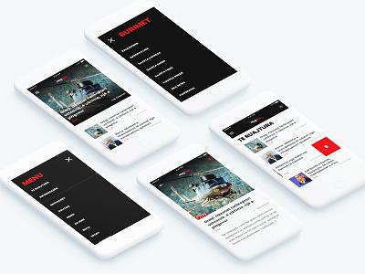 Magshqip App Redesign minimal sketch principle political read rss shqip albania reader news app magshqip