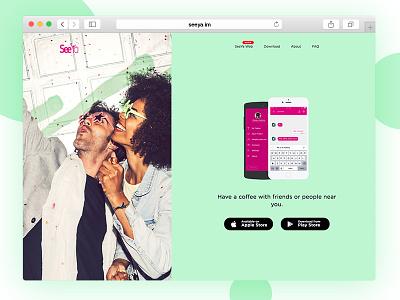 SeeYa.im Landing Page transition landing landing page webpage flat web ux branding app typography ui design