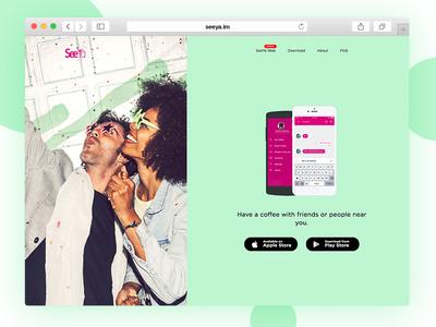 SeeYa.im Landing Page