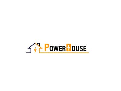 PowerHouse Logo icon brand branding graphic design logo design logo house power powerhouse