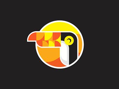Toucan Logo Design bird icon branding vector logo design graphic design logo santuario sanctuary wildlife bird toucan