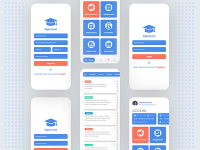 School App Design uidesigner ios app design uidesign ui ux mobile ui android app design ui design mobile app design design uiux uidesigns uiuxdesign