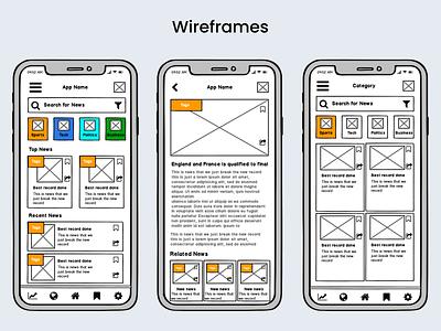 Low Fidelity Wireframes uidesigns uiux design android app design mobile app design uiuxdesign ui design app designer app design app workflow wireframing wireframe design wireframes wireframe
