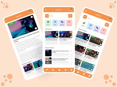 News App Design android app design uidesign uiux ui design mobile ui design designer uiuxdesign uidesigns mobile app design app designers app designer app design