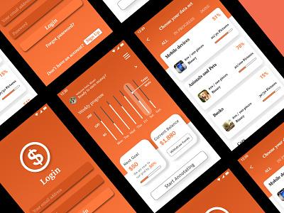 Earning App Design android app design ui design app ux uiuxdesign uiux uidesigns mobile ui ui mobile app design design