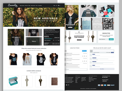 Sevenly Redesign sevenly homepage redesign personal