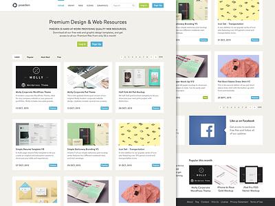 Pixeden Redesign personal for fun redesign flat pixeden