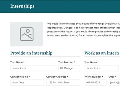 Internship Forms