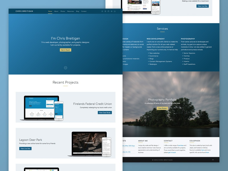 Redesign ui portfolio personal redesign web design website