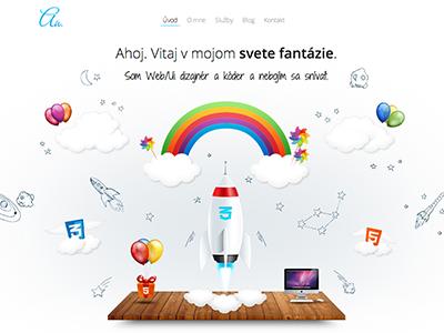 Portfolio HTML5/CSS3 website animated illustration