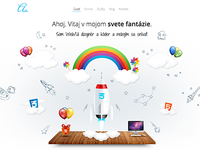 Portfolio HTML5/CSS3 website animated illustration