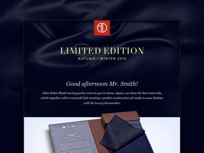 Alain Delon Limited Edition Fall/Winter 2015