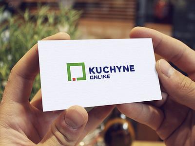 Logo for Kitchen Studio template mockup bussinescard wordmark identity typography minimalist square logo kitchen