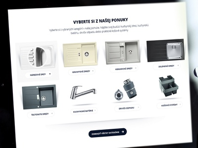 Category listing on page accessories kitchen web website navigation listing category