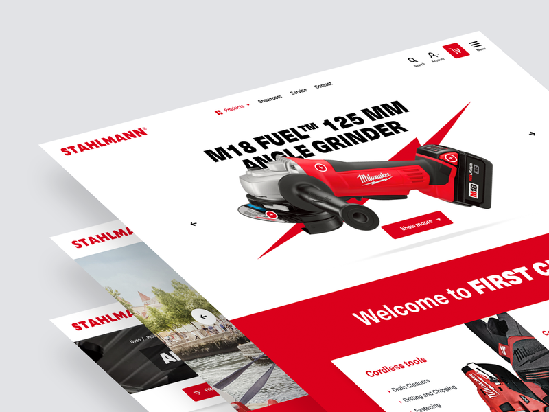 Powertools E-commerce project riesenia homepage clean creative responsive ui ux design web minimalist tools eshop ecommerce website webdesign ux design