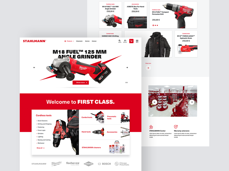 Milwaukee Powertools E-commerce Solution webdesign design ui ux tools landing page web website ecommerce