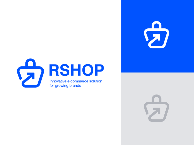 New Branding for our E-commerce platform Rshop redesign rebranding logodesign rshop eshop ecommerceplatform platform ecommerceapp ecommerce growing grow creative logo logotype design logotype blue ilustration design branding brand logo