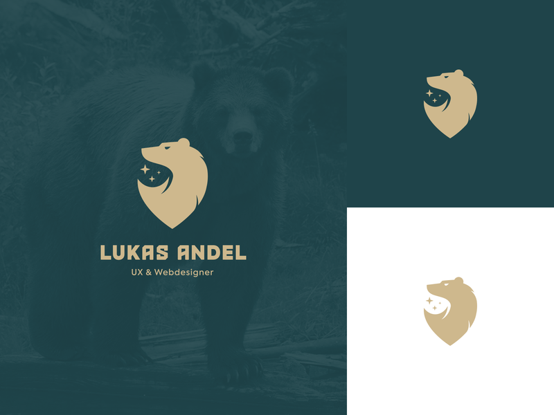Personal Branding luxury gold green brand personal webdesigner web ux bold strong natural nature minimalist creative bear animal branding logotype logo