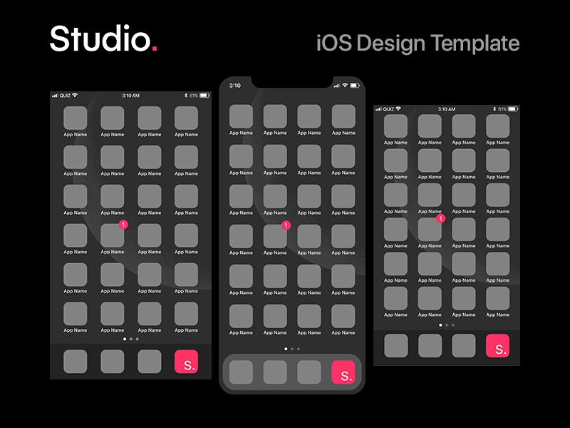 InVision Studio - iOS Template free resource template ios studio invision