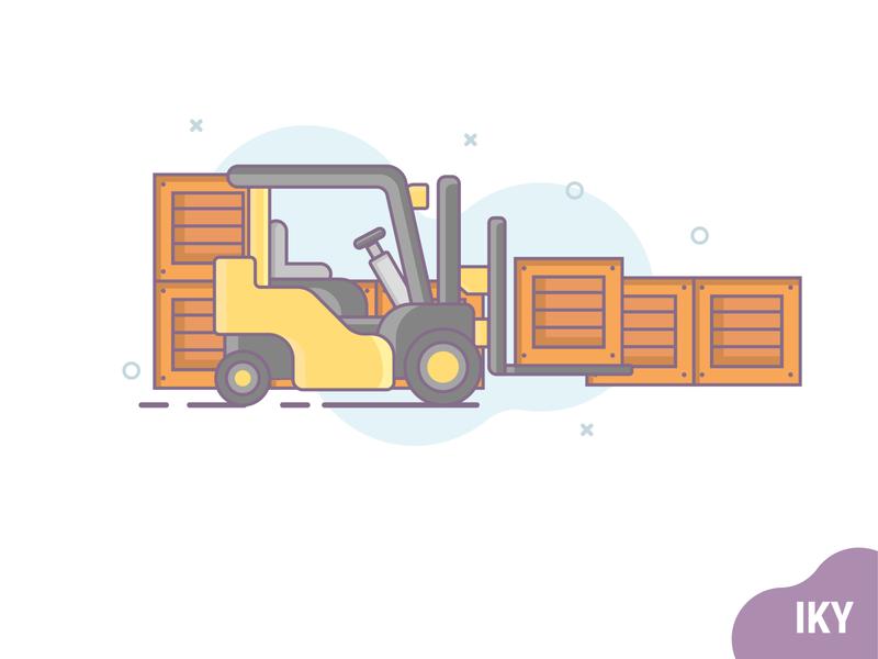 Forklift flat design forklift forklift flatdesign illustration designer design