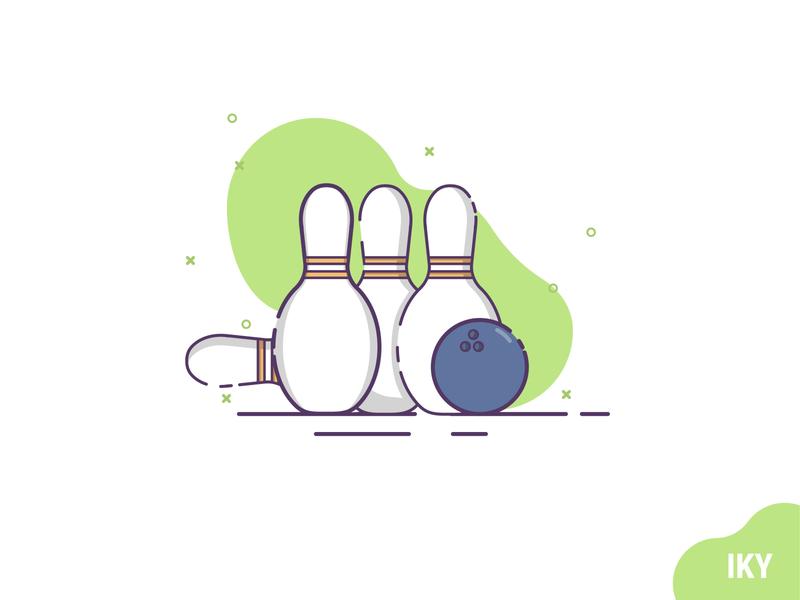 Bowling illustration bowling ball bowling pin bowling flat design bowling flat design designer design