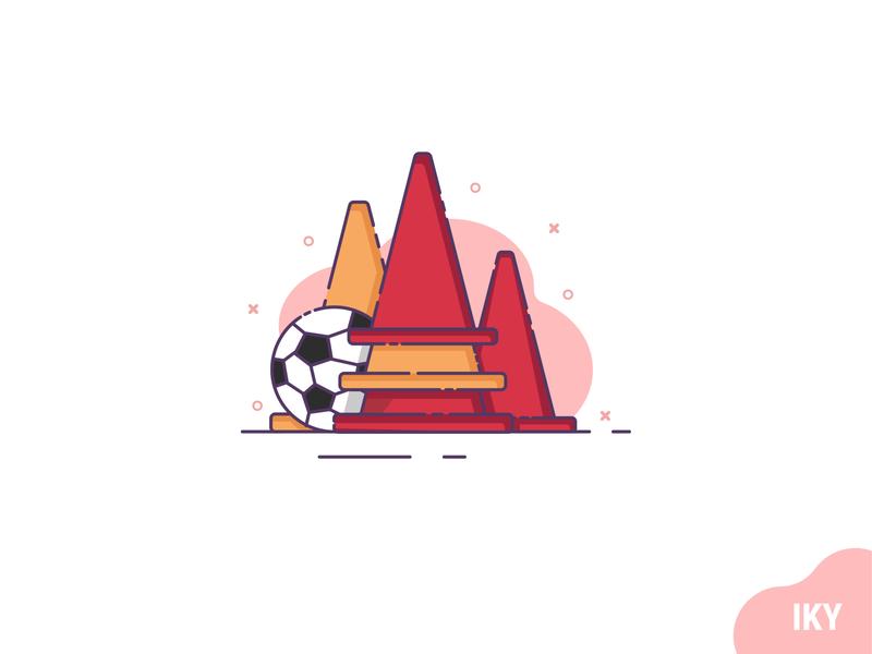 Soccer soccer ball illustration flat design designer design