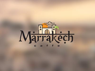 Marrakech caffe logo vector illustration design prduction logo