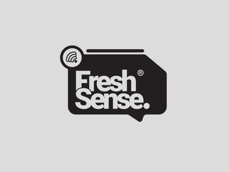 Fresh Sense. typography branding vector illustration design prduction logo