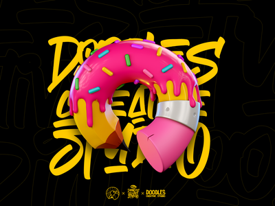 Doodles Creative Studio app music typography ui 3d branding prduction illustration design logo