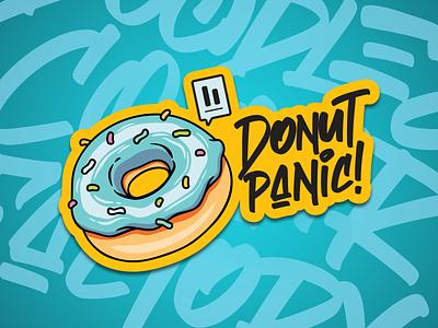 stiker 2 stiker donut agency smiley app typography branding vector illustration design prduction logo