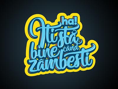 Sticker | Iti sta bine cand zambesti music smiley prduction hahaha
