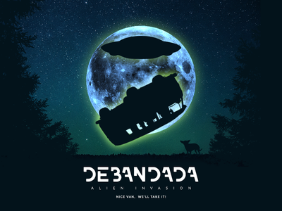 Debandada Events Poster music party invasion alien debandada