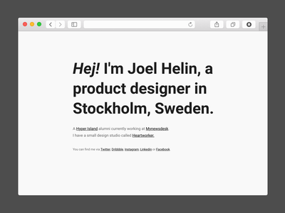 Joelhelin.me website responsive html css personal