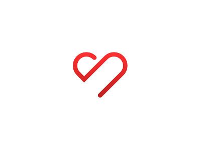 Heartworker symbol symbol mark heart logotype heartworker identity